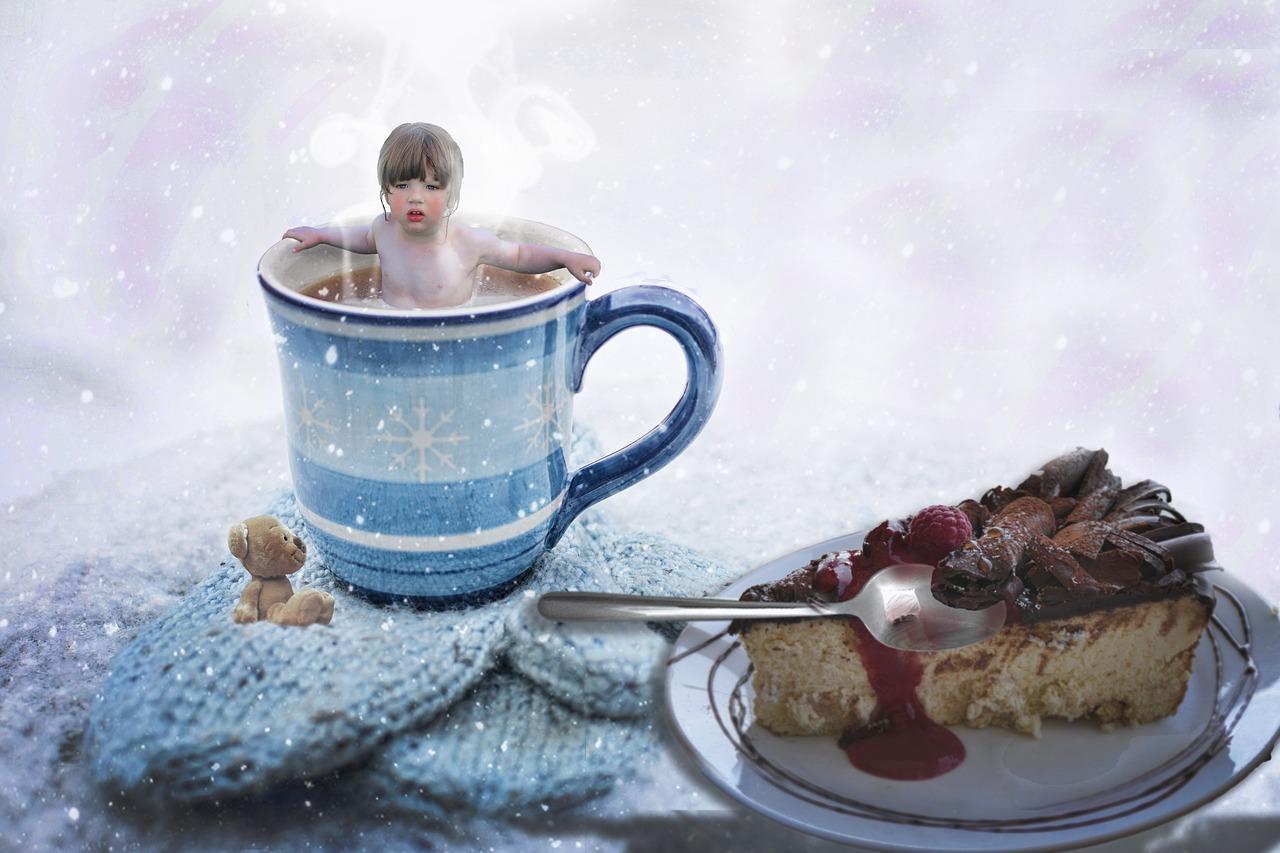 Картинки чашка кофе на снегу