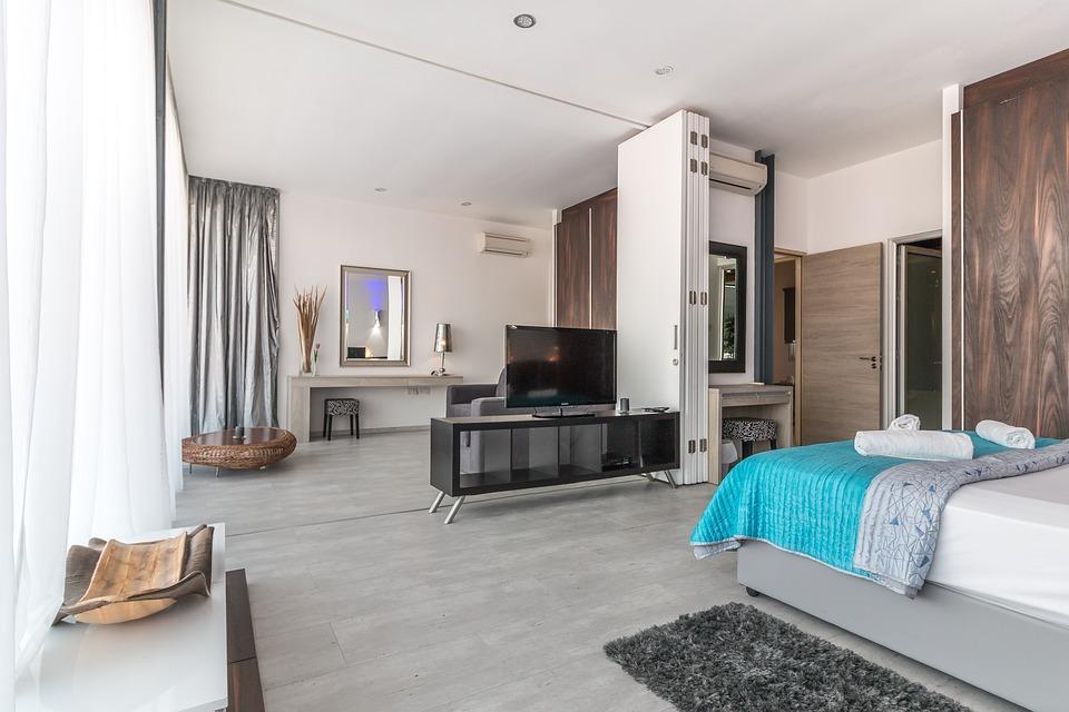 Villa, Interior, Hotel, Dormitorio, Vacaciones, De Lujo