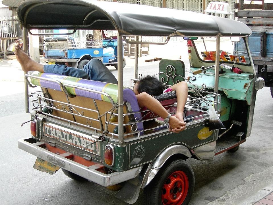 Vervoer, Tuk-Tuk, Thailand, Slapen, Relaxen