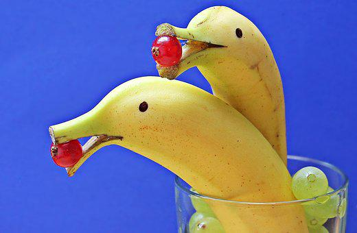Bananas, Deco, Fruit, Set, Eat