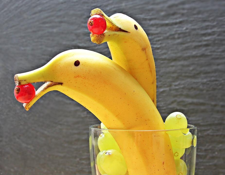 Banane Delfin, Banane Delfino, Banane, Delfini, Frutta