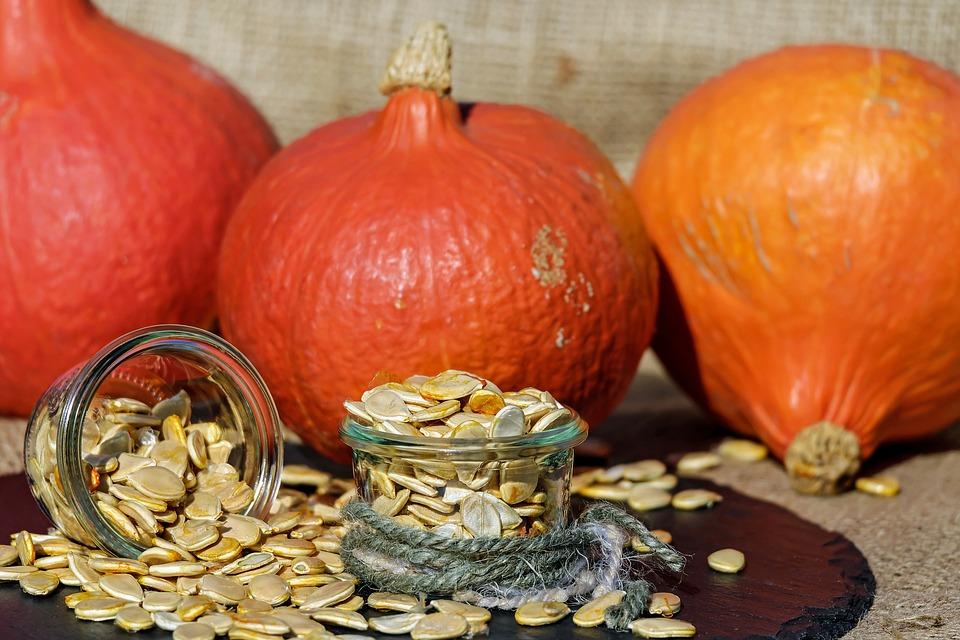 Pumpkin Seeds, Pumpkin, Seeds, Orange, White, Raw, Bio