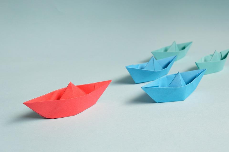 キャリア, 紙, 折り紙, リーダー, マリーナ, 海洋の, ボート, 旅行, トランスポート, 業界, 海