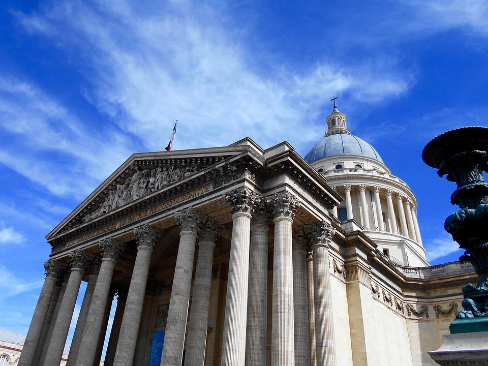 Párizs, Panteon, Építészet, Város, Kültéri Vétel