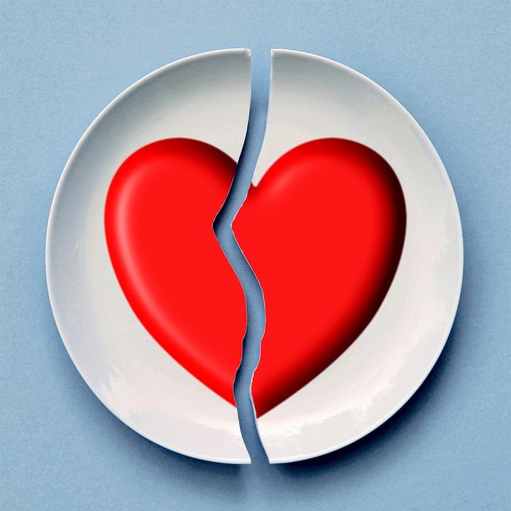 Brisées, Coeur, L'Amour, Red, Romance, Relation