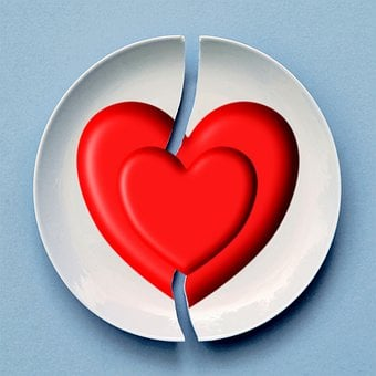 Broken, Heart, Love, Red, Romance