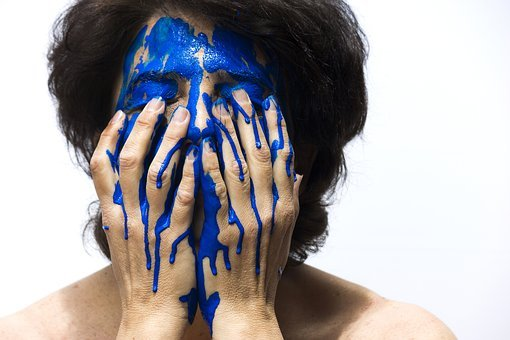 Barva, Obličej, Modrá, Malba, Žena