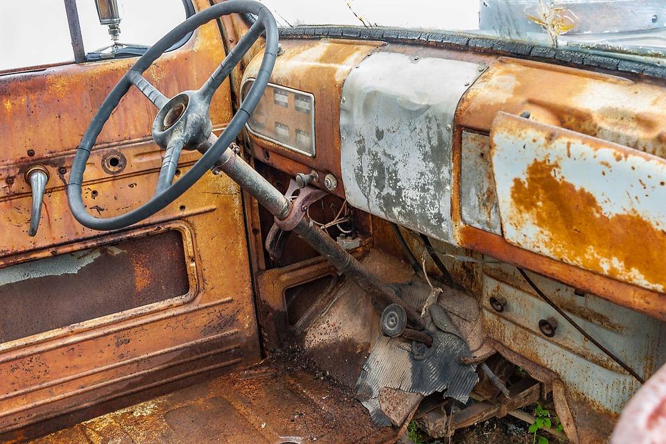 Scrap Car Inside Auto · Free photo on Pixabay