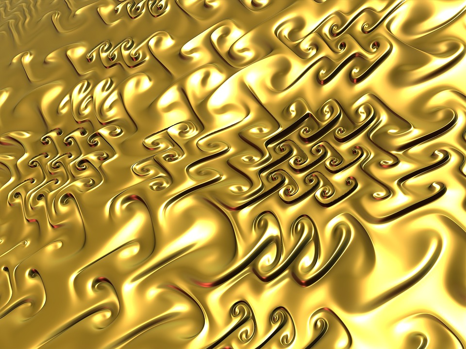 Golden background design