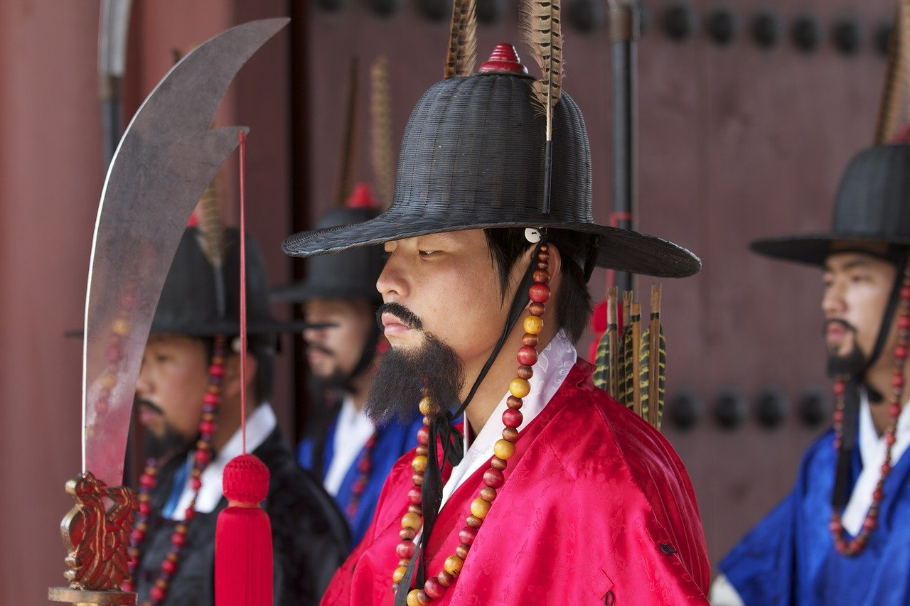 Traditional guard in Seoul