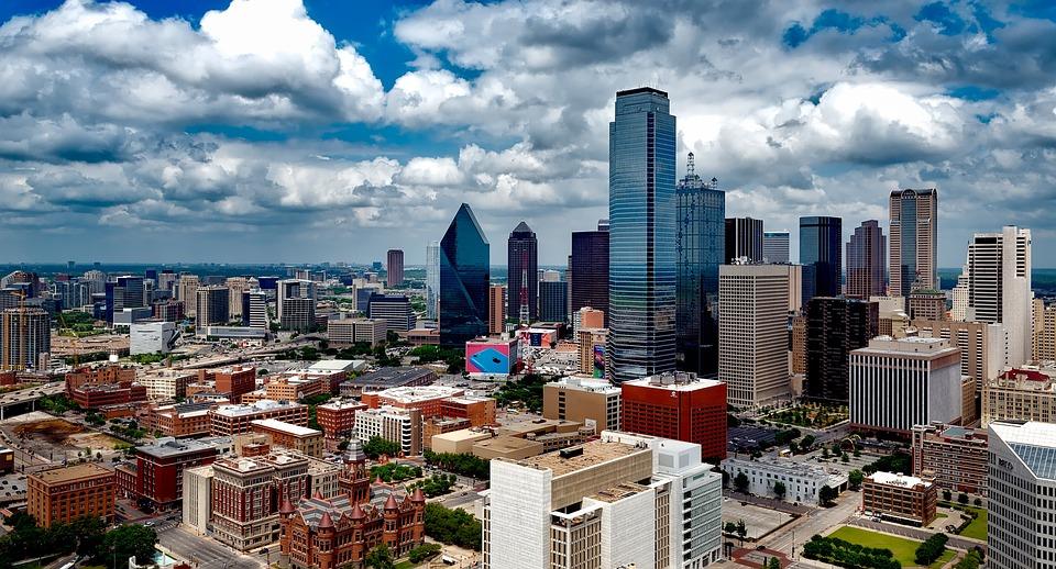 Dallas, Texas, City, Miasta, Miejskich, Skyline