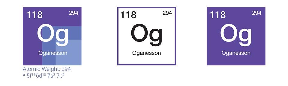 Oganesson Kimia Tabel Periodik - Gambar gratis di Pixabay