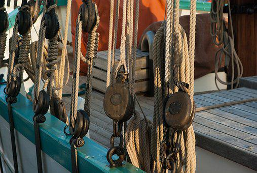 Sailboat Boat Rope Pulleys Sailboat S