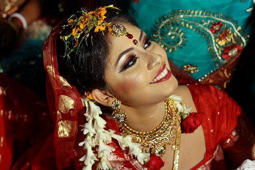 Bride Bangladesh Wedding Ceremony Cute Hin