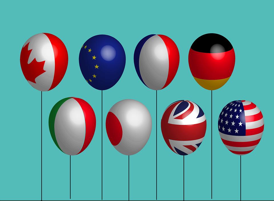 Pays, Drapeau, Ballon, Diplomatie, Monde, International