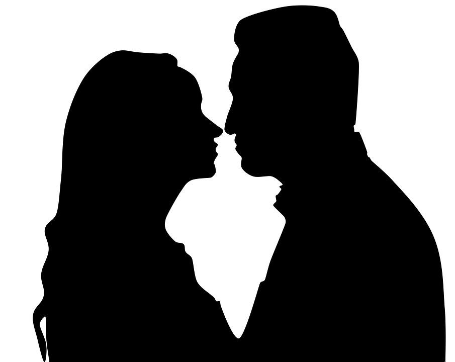 Silueta Hombre Y Mujer: Amor Pasión Casal · Imagen Gratis En Pixabay