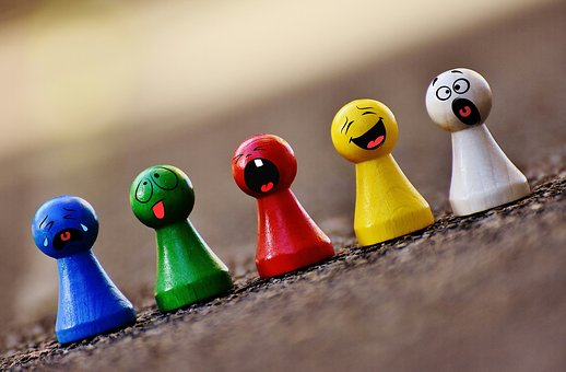 Spielsteine, Bunt, Smilies, Lustig