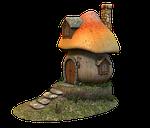 mushroom, home, fairy tales