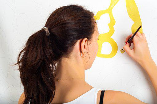 Painting Wall Woman Girl Home Paint House