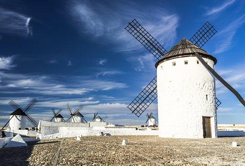 Molinos de Viento en Castilla la Mancha