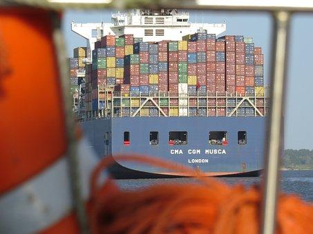 Contenedor, Carga, Marítima, Envío