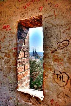Window, Brick, Graffiti, Urban, Hdr