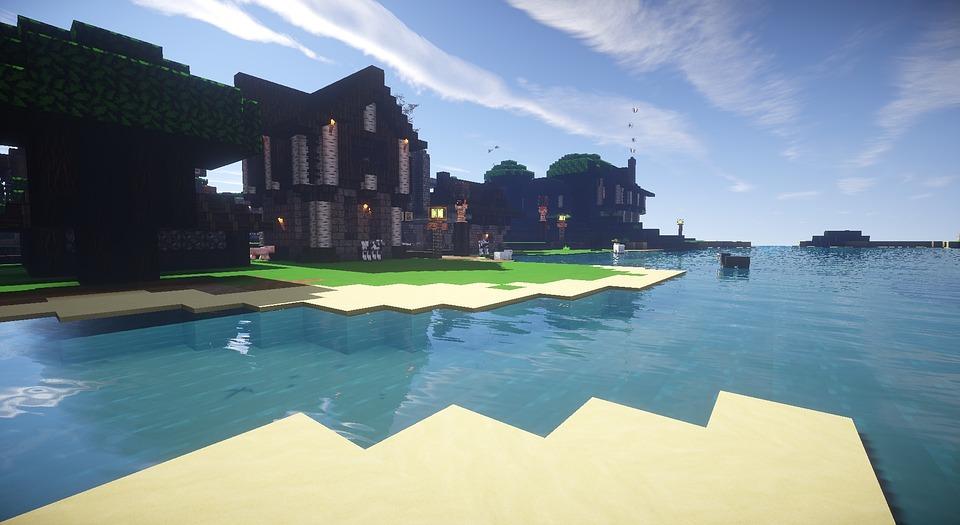 Minecraft Fluss Mittelalterlichen Kostenloses Bild Auf Pixabay - Minecraft videos hauser bauen