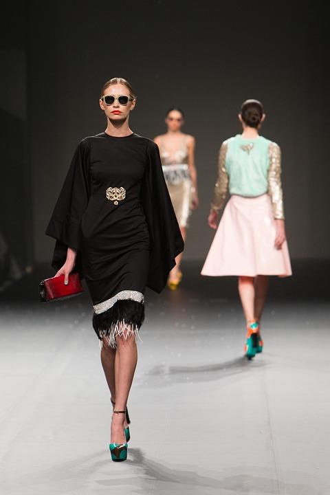 Modenschau, Mode, Laufsteg, Modell, Weiblich, Stil