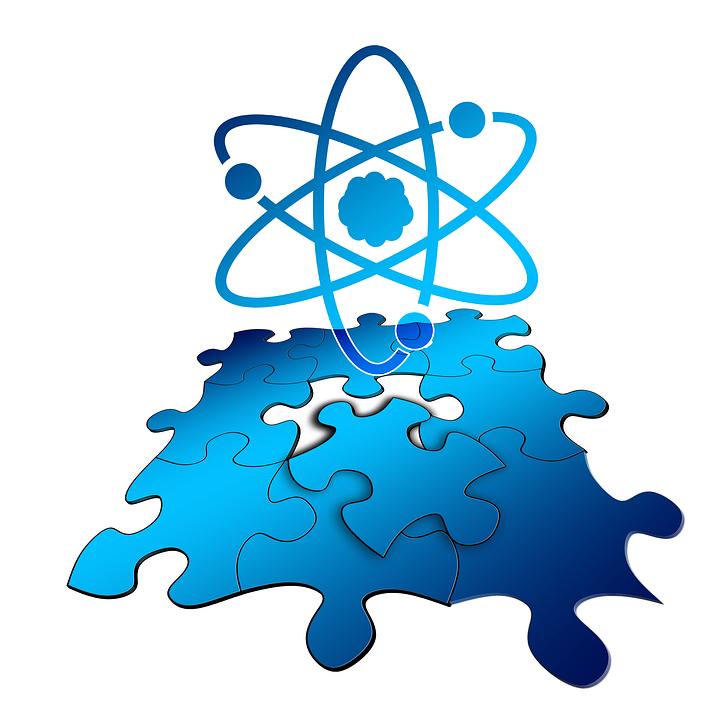 Puzzle, Udostępnij, Atom, Elektronów, Neutronów