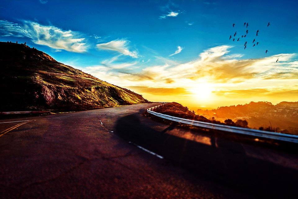 Kostenloses Foto Stra 223 E Berg Sonnenuntergang