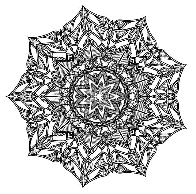 free illustration  mandala  pattern  geometry  black - free image on pixabay