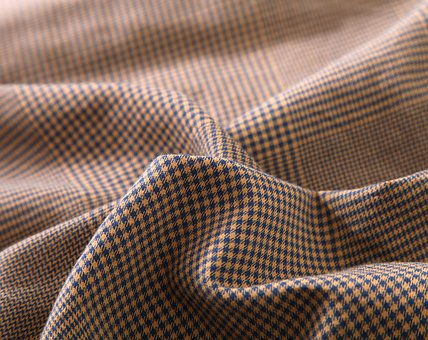 Houndstooth, Fabric, Brown, Textiles