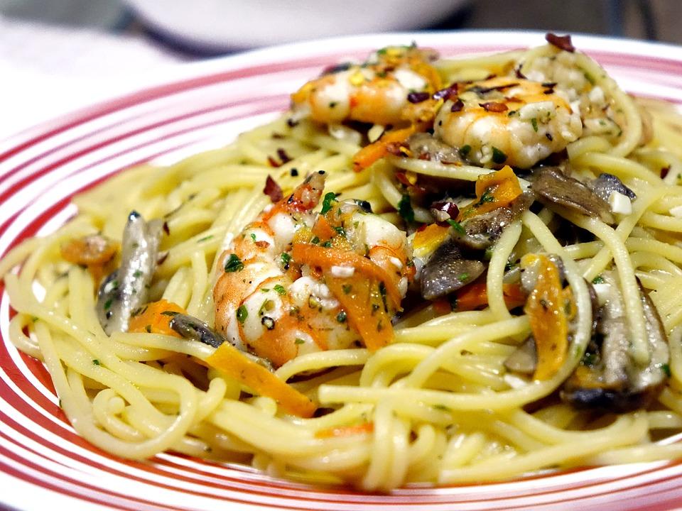 Spaghetti, Tagliatelle, Fungo, Pasta, Italiano, Aglio