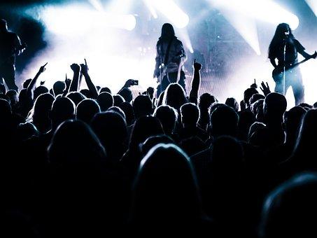 コンサート, ライブ, ステージ, バンド, 金属帯, 金属