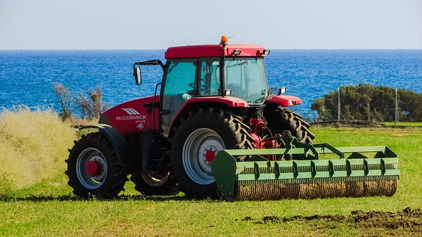 Tractor, Field, Rural, Agriculture, Farm