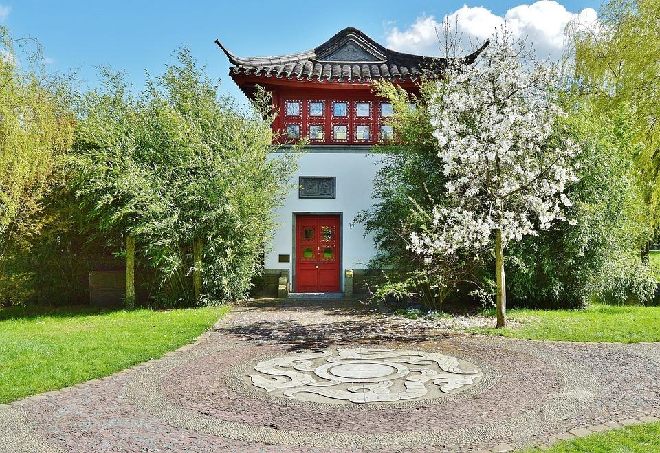 Jardin Japonais Maison De The Photo Gratuite Sur Pixabay