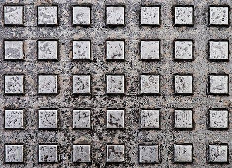 Metal, Grunge, Cover, Plate, Square