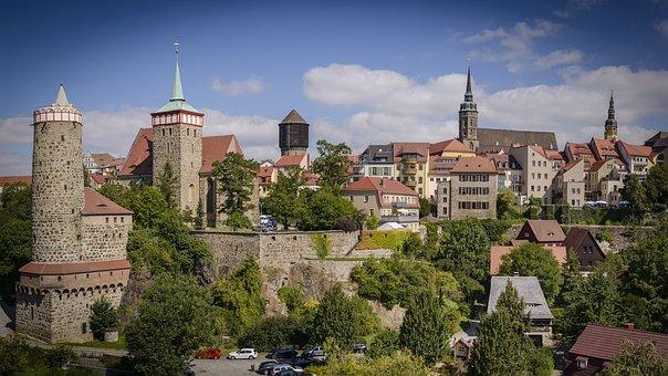 Bautzen, Stadt, Panorama, Altstadt