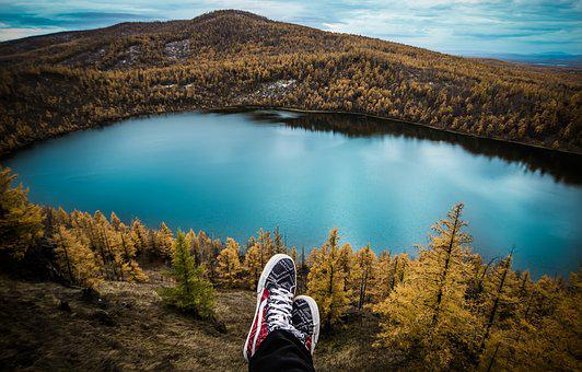 Travel, Lake, Feet, Resting, Hiking