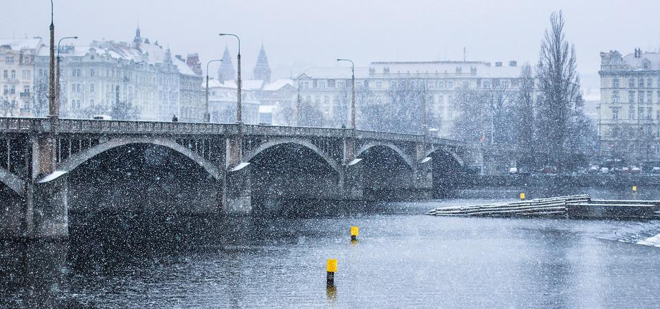 Река зимой природа анимация картинки