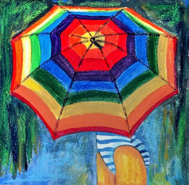 Free illustration: Acrylic Painting, Colorful, Canvas ...