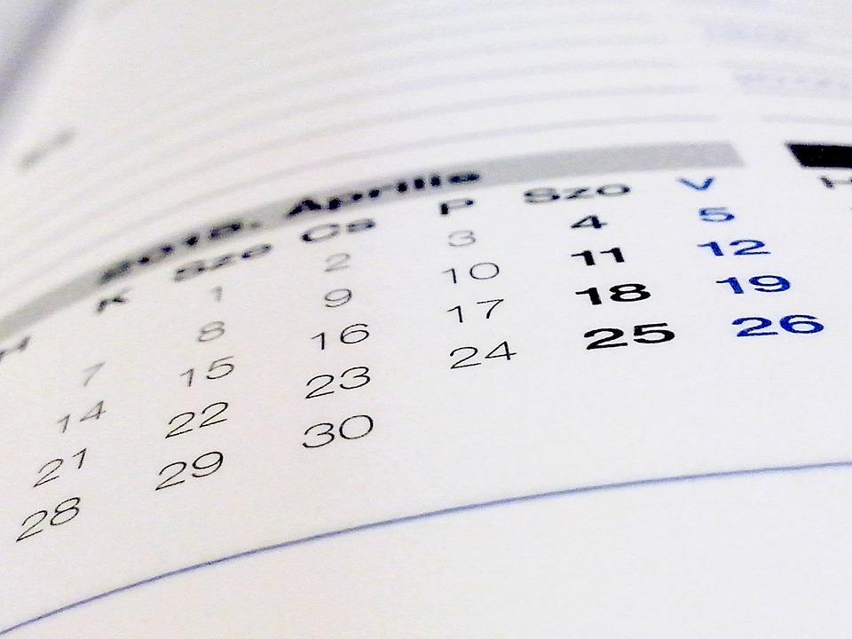 本, カレンダー, 紙