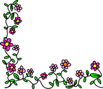 flowers, doodle, whimsical