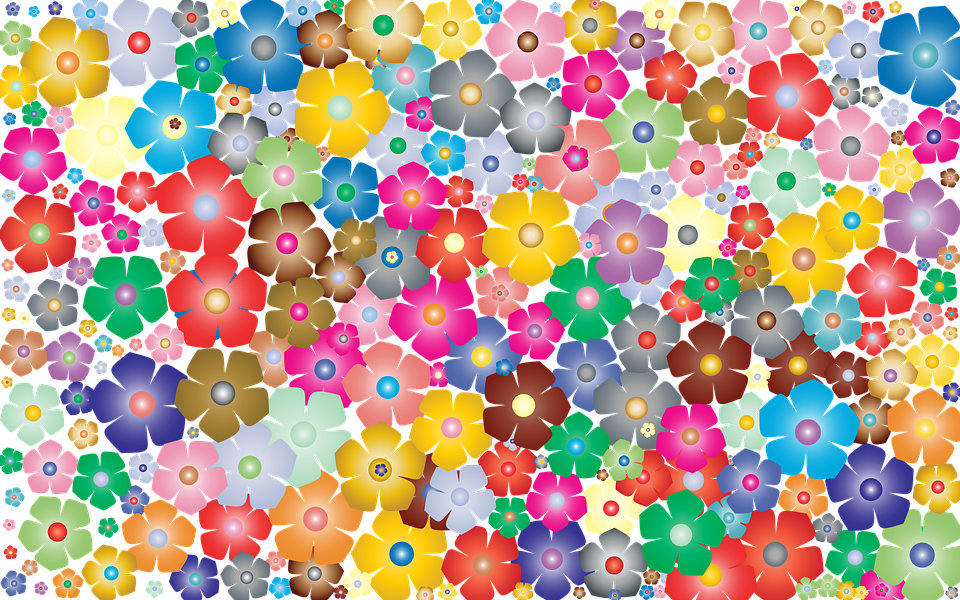 Free Colorful Flower Wallpaper Downloads: Flower Floral Background · Free Vector Graphic On Pixabay