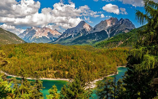 Landscape, Mountains, Natural, Lake