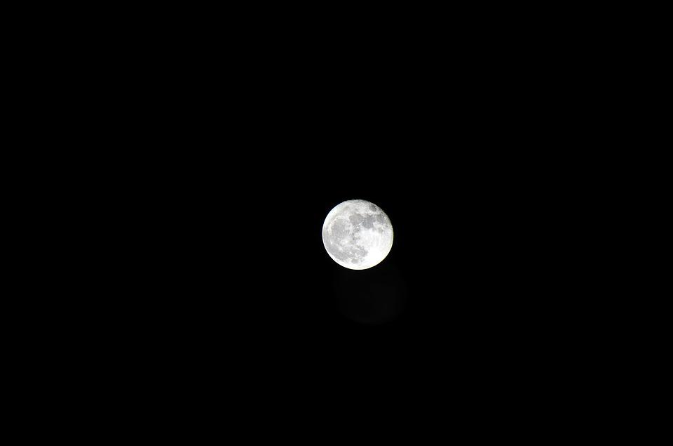 ночью луна фото