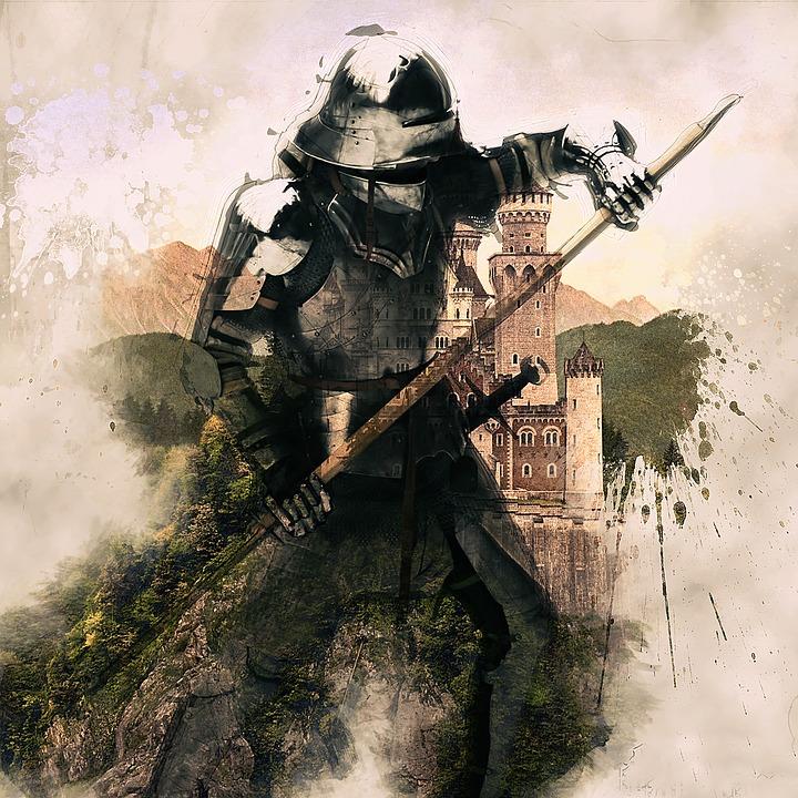 Medieval, Knight, Armor, Helmet, Warrior, History