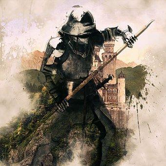 Medieval, Knight, Armor, Helmet, Warrior