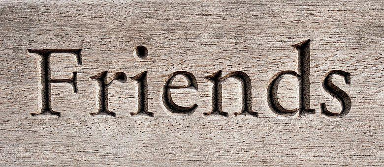 Friend, Carving, Wood, Friendship