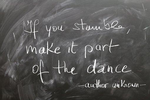 Board, Chalk, Stumble, Dance, Stand Up